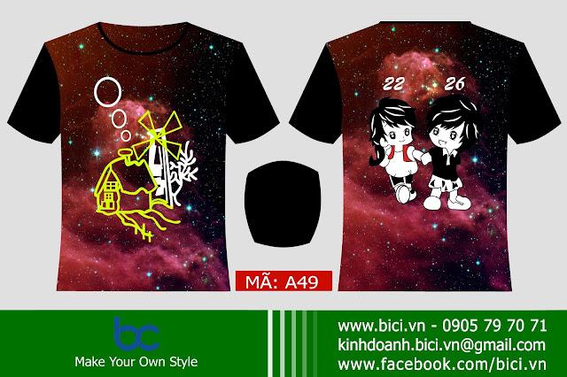 áo lớp galaxy 3D Đà Nẵng