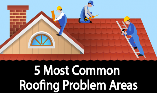 5 Most Common Roofing Problem Areas #infographic
