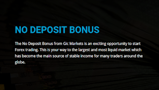 GIC Markets Forex No Deposit Bonus