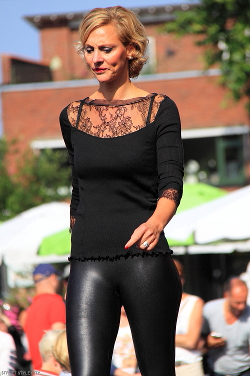 Street Style Black Leather Legging