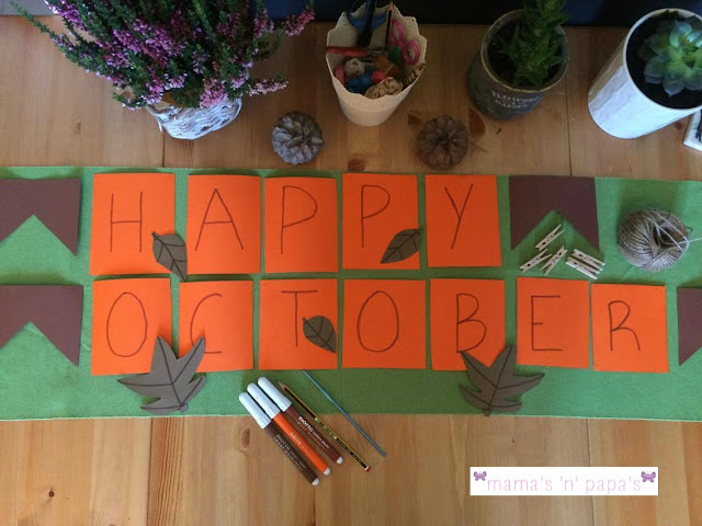 fall autumn diy banner