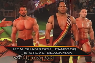 WWF -  Unforgiven 1998: In Your House 21 - Farooq, Steve Blackman & Ken Shamrock took on The Nation
