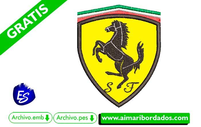 Logo Ferrari Para Bordar