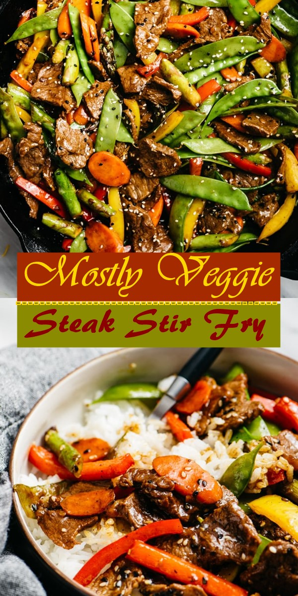 Mostly Veggie Steak Stir Fry #dinnerrecipes