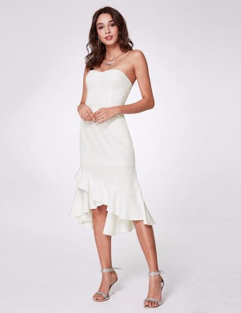 white graduation dress