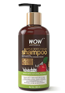 wow skin science apple cider vinegar shampoo for grey hair