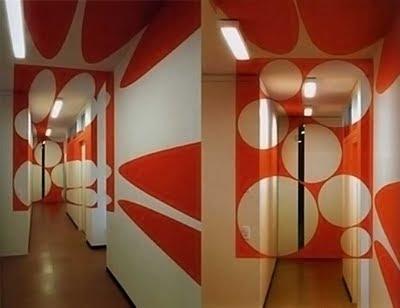 Ev Hol Dekorasyon Göz Yanılması Anamorfik Şekil