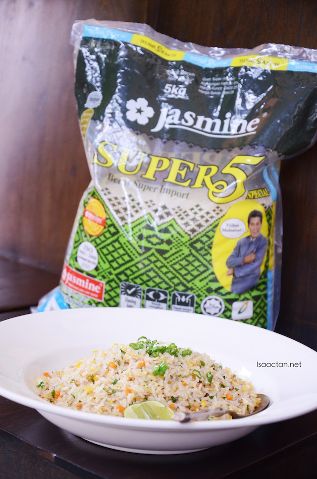Thai Plain Fried Rice using Jasmine Super 5 White Rice