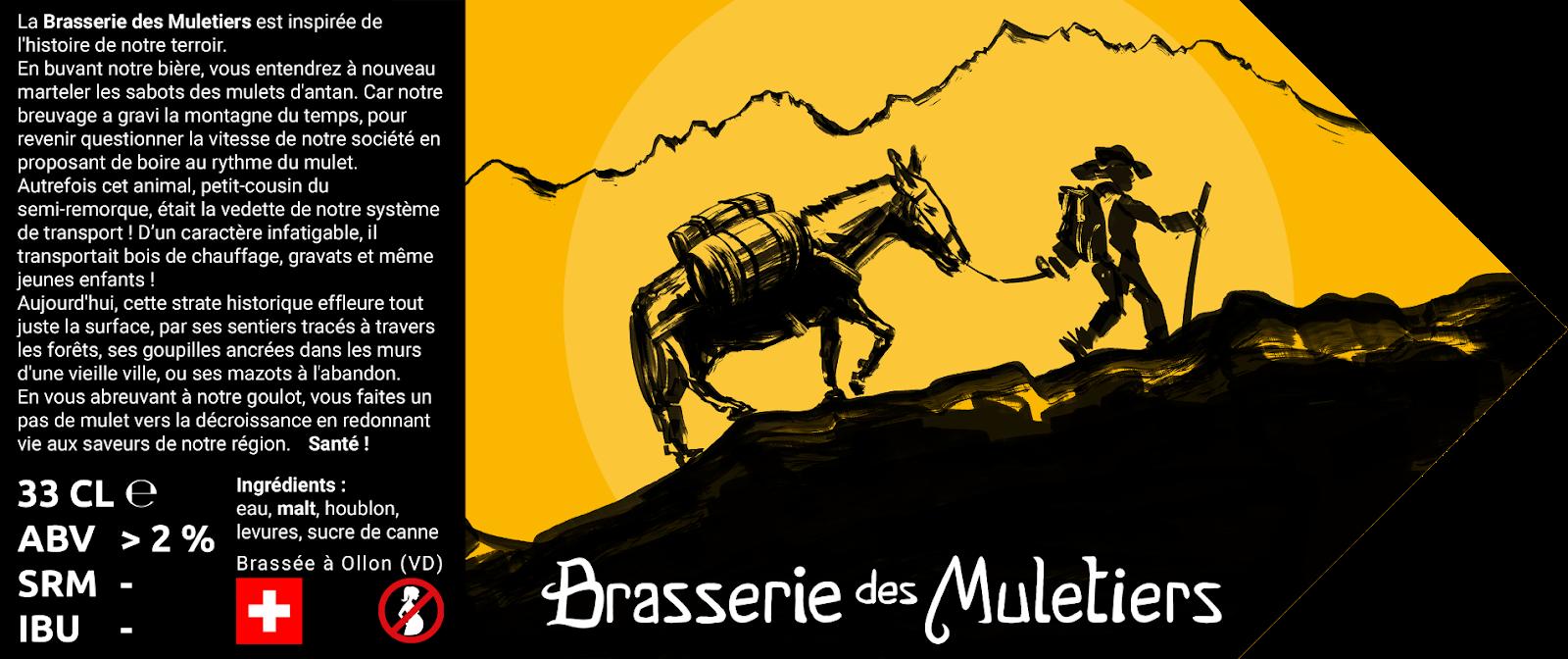 logo étiquette Brasserie des Muletiers