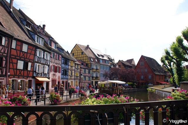 La Petit Venise unita al Quartiere dei Pescatori è uno dei punti più pittoreschi di Colmar