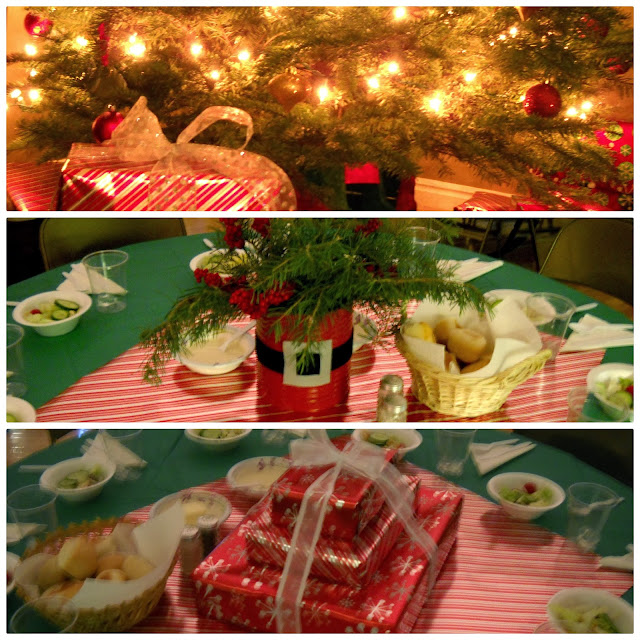 Potpourri Mommy: Inexpensive Christmas Party Table