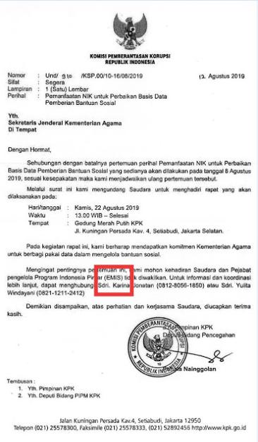 NIK Untuk Perbaikan Basis Data Pemberian Bantuan Program Indonesia Pintar (PIP) Melalui EMIS