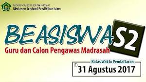 Beasiswa S2 Guru Madrasah Negeri dan Swasta oleh Kementerian Agama