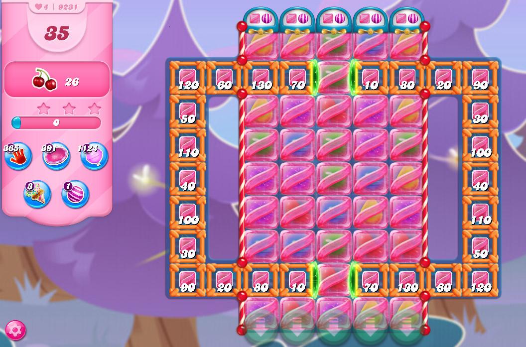 Candy Crush Saga level 9231