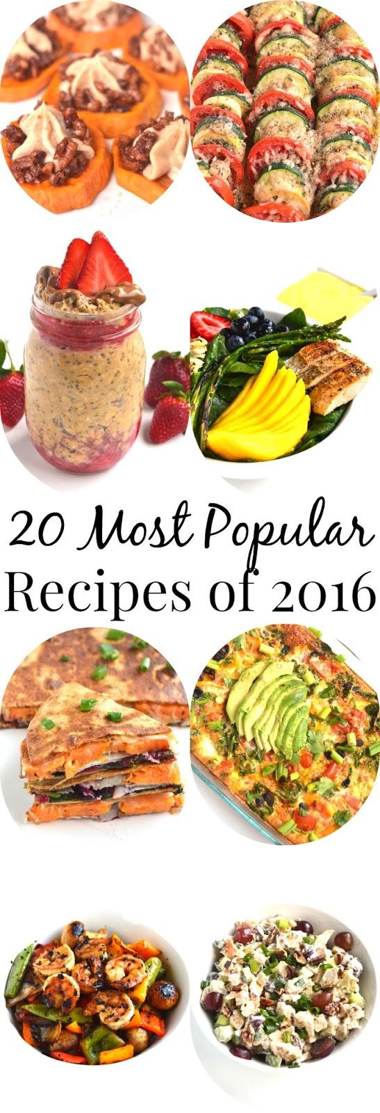 20 Most Popular Recipes of 2016 www.nutritionistreviews.com