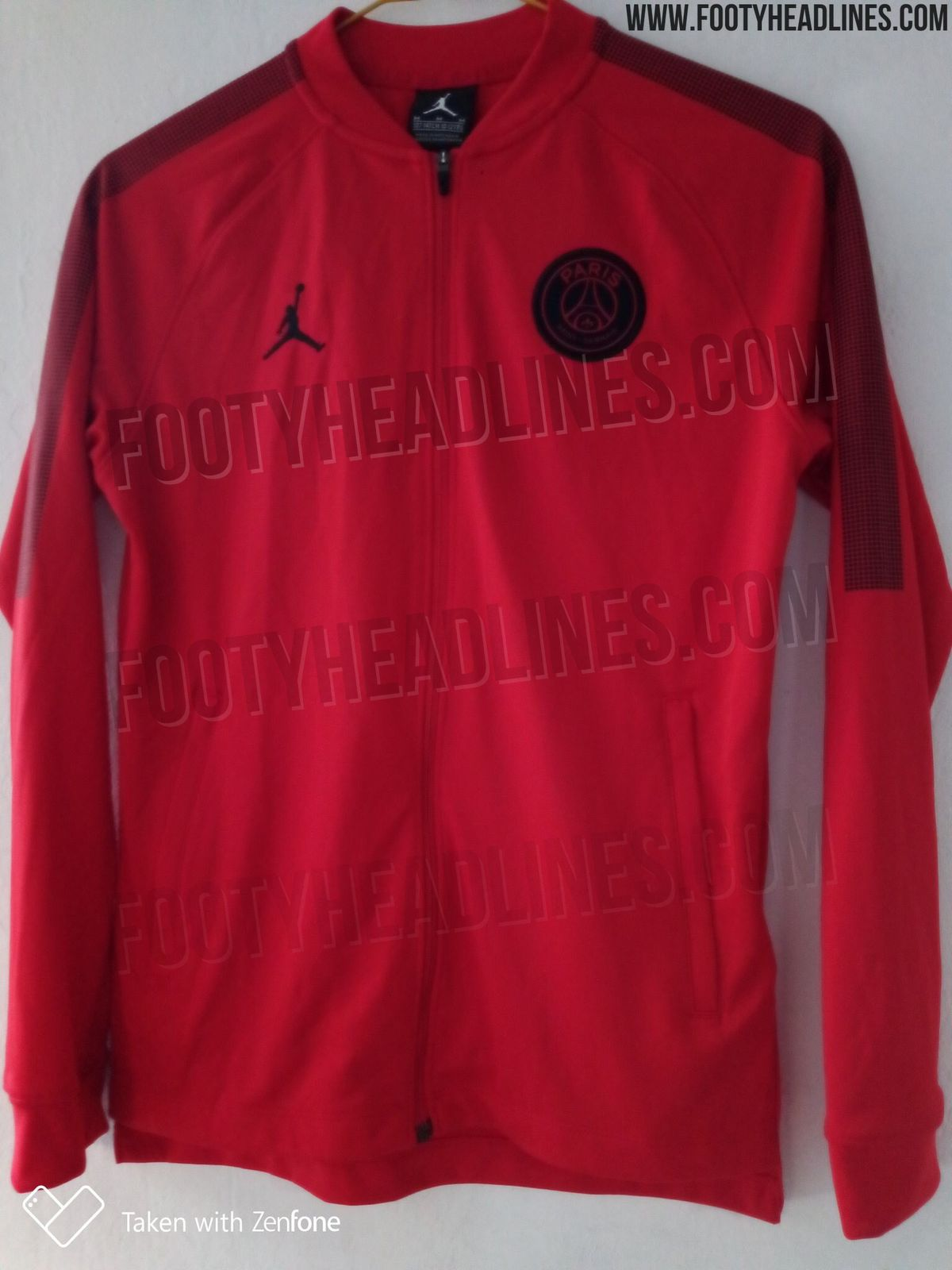 91aba166075 Update: A second, red Air Jordan x PSG 18-19 jacket has leaked. Check it out  below.