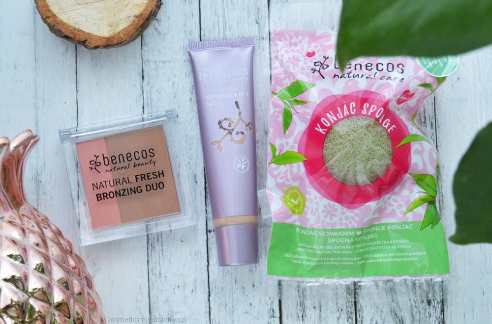 Benecos - kosmetyki naturalne do makijażu (bronzer i BB Cream) i o gąbeczce konjac słów kilka