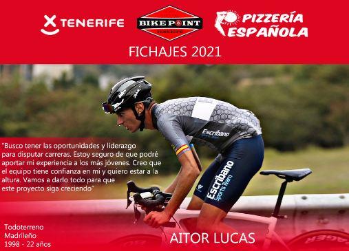 El Tenerife BikePoint Pizzería Española ficha a Aitor Lucas