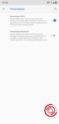 6. Jika Pemindaian Bluetooth sudah tidak aktif maka Bluetooth tidak akan aktif sendiri setelah ponsel selesai Booting atau setelah ponsel di aktifkan setelah mati.