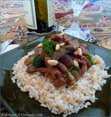 Crockpot French Onion Beef with Broccoli, a hearty dinner for a cold winter night. Made easily in the slow cooker, served over brown rice.
