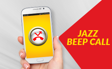 Jazz beep Call Offer Zero Balance Call Service