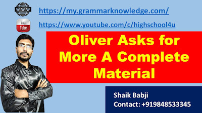 Oliver Asks for More A Complete Material