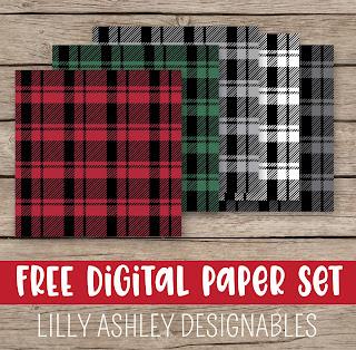 free plaid digital paper plaid background
