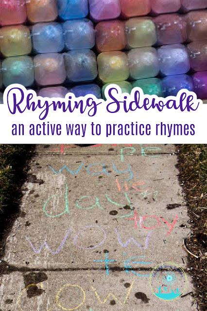 Sidewalk Rhyming Practice