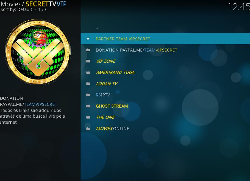 Secret TV Vip Addon - How To Install Secret TV Vip Kodi