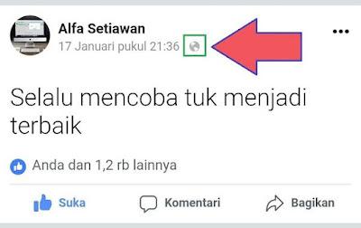 Privasi Publik di mobile facebook