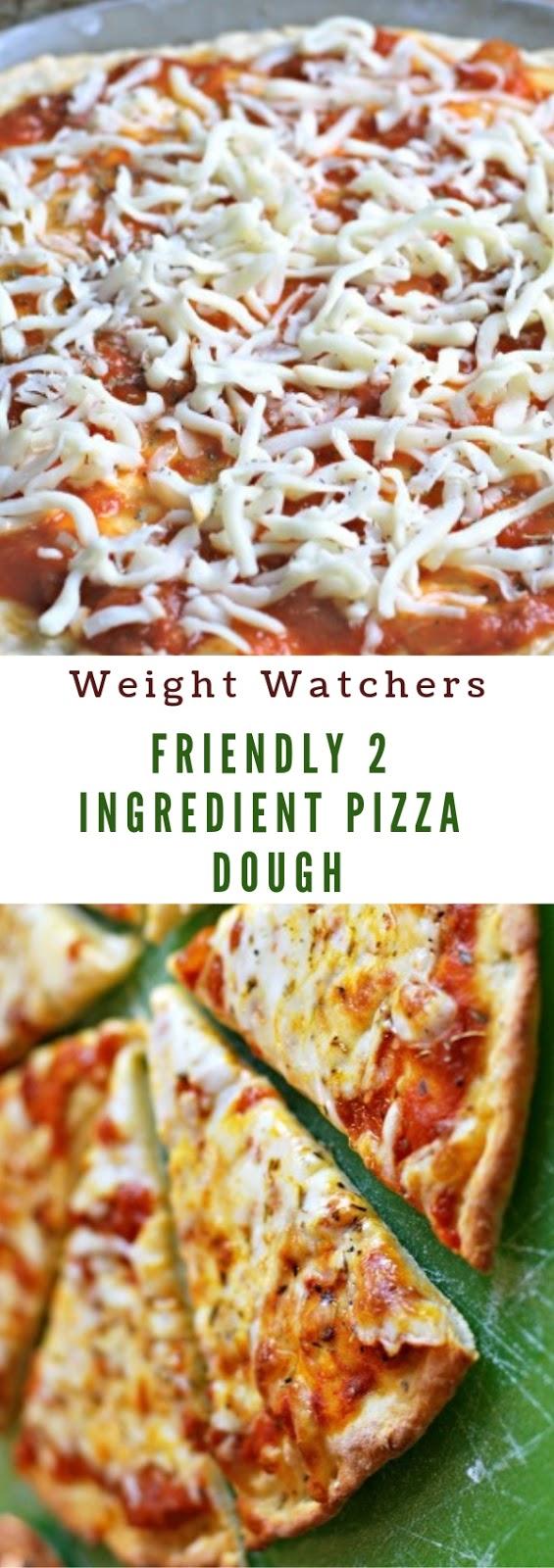 Weight Watchers Friendly 2 Ingredient Pizza Dough #slidedish #appetizer #weightwatchers #2ingredient #pizza #dough