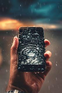 hp smartphone terkena air
