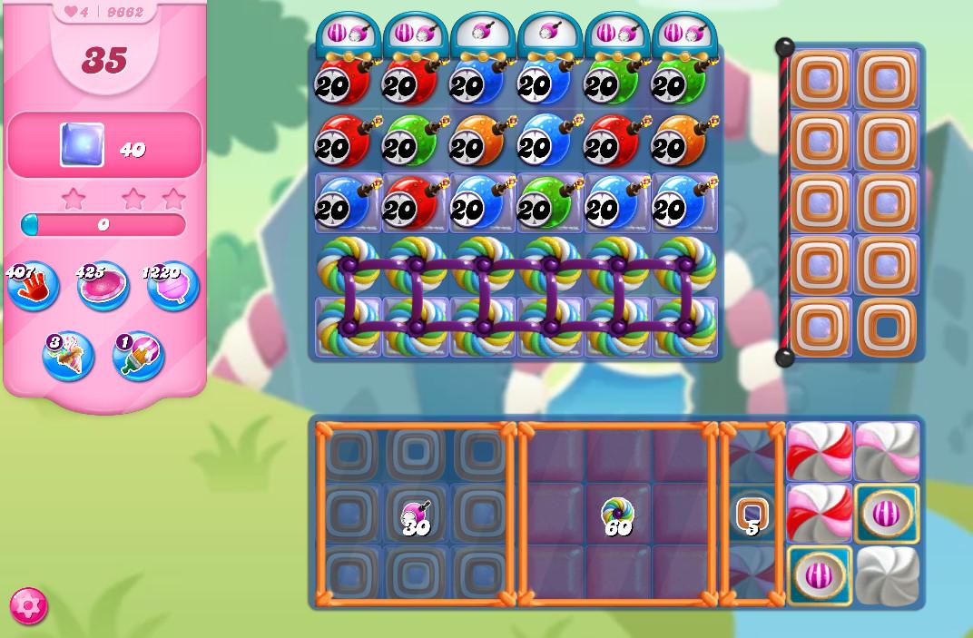 Candy Crush Saga level 9662