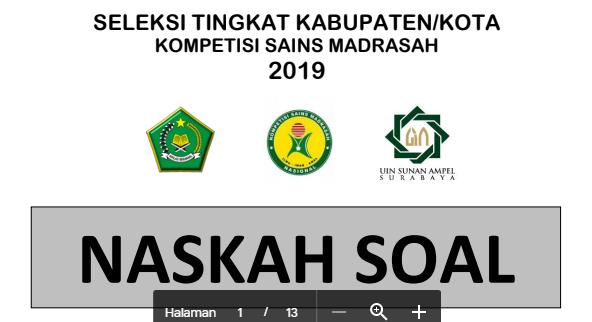 KUNCI JAWABAN KSM 2019