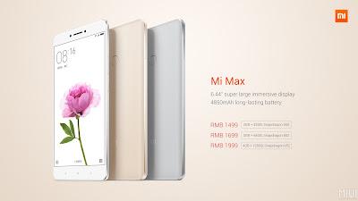 Xiaomi Mi Max Price List