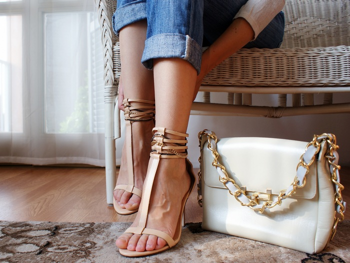chain bag shoes diy francinesplace