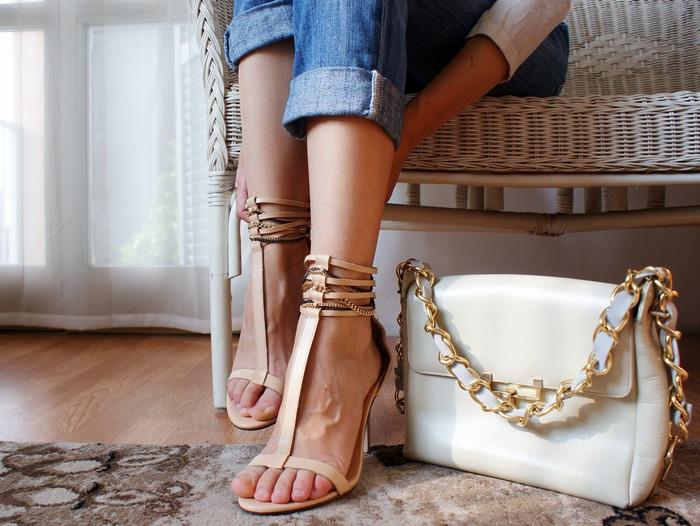 chain bag shoes diy francinesplace