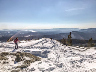 Summit of South Moat Mountain in Winter