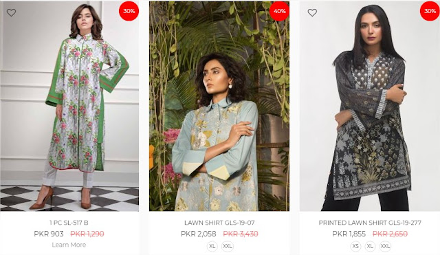 Ideas By Gul Ahmed pret Collection online sale 2020 up-to 50% off