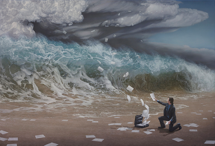 Hyper-realistic Australian artist also defined as a painter of contemporary surrealism.