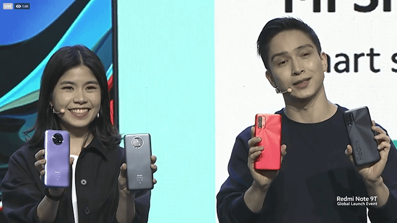 Redmi Note 9T side by side with Redmi 9T