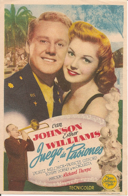 Programa de Cine - Juego de Pasiones - Esther Williams - Van Johnson