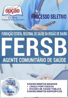 Apostila Processo Seletivo FERSB 2016 Agente Comunitário de Saúde
