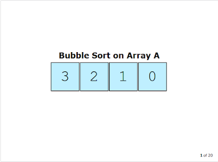Bubble sort in Java - program to sort integer array