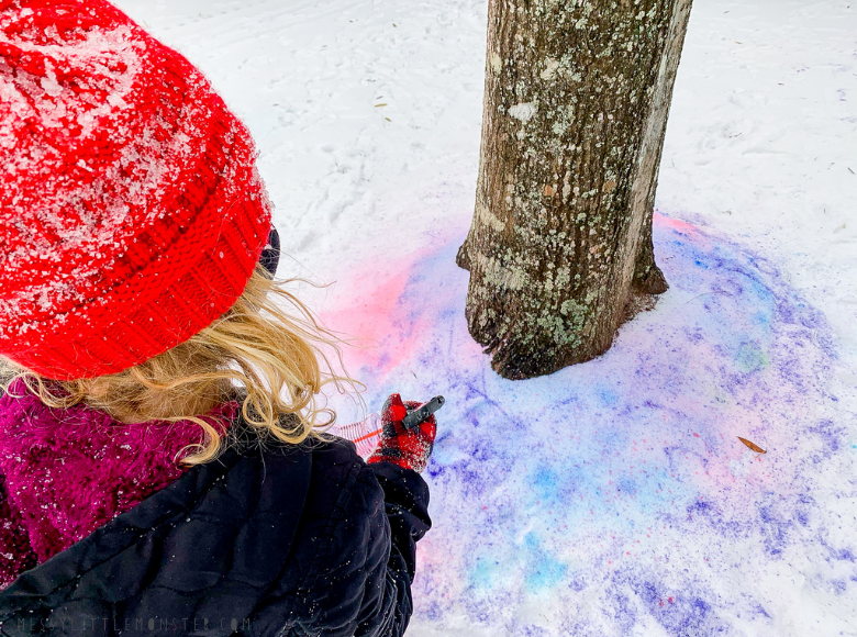 How to paint snow