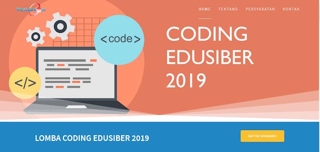 jadwal pelaksanaan Lomba Coding Edusiber 2019 untuk Guru dan Siswa SMA/SMK