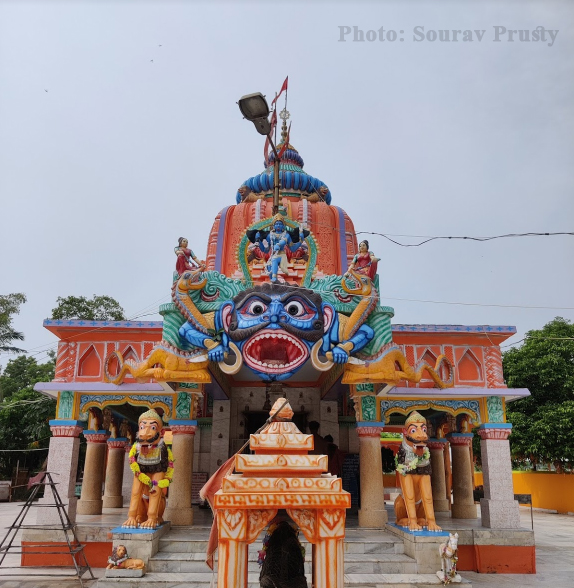 Front View of Maa Dhamarai Temple