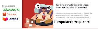 Paket E Commerce Telkomsel 1GB Hanya Rp 10