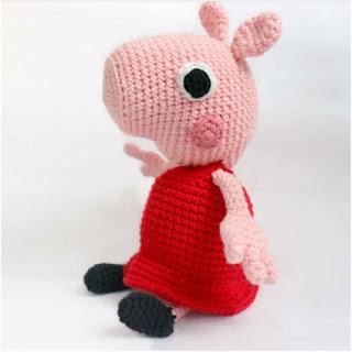 patron amigurumi Peppa Pig lanas y ovillos