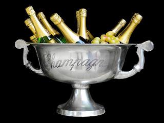 champagne y jamón